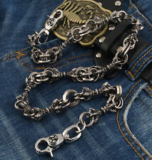 Heavy Medieval Gothic Classic Jean Wallet Key Chain 26