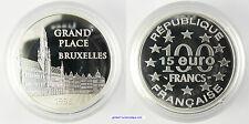 100 FRANCS , 15 EURO  ARGENT  , 1996 ,  GRAND PLACE BRUXELLES , PROOF , FDC