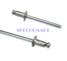 50Pcs M3.2x16mm Stainless Steel 304 Open End Round Head Blind Pop Rivets