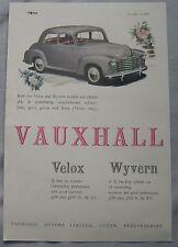 1950 Vauxhall Velox & Wyvern Original advert No.1