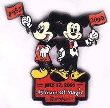 Disney Pins/DLR/45 Years of Magic/Mickey in Tux and Regular Clothes/LE/NOC