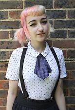 Francés Cravat Kawaii Japón School Girl Indie Grunge Cosplay pre-tied Bow Tie