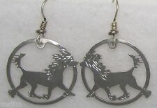 Chinese Crested Jewelry Silver Dangle Earrings by Touchstone