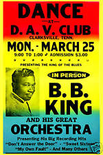 Early Blues: BB King at Clarksville Tenn. Concert Poster 1961