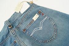 REPLAY WV580F Baggy Janice Damen Jeans Hüft Hose schlag 26/34 W26 L34 blau NEU