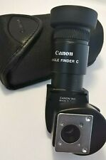 Canon Angle Finder C for EOS Cameras 1.25x & 2.5x in Black Case and two Adapters