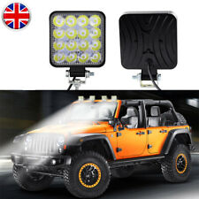 2X 48W 16LED Work Light Bar Flood Spot Lights Driving Lamp Offroad Car Truck SUV
