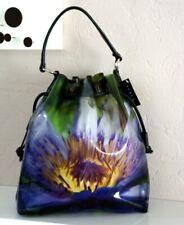 $375 FURLA Multi color Floral PVC Drawstring Side Tote Shoulder Large Handbag