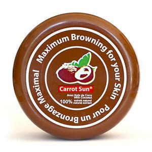 COCONUT Carrot Sun Tan Accelerator Tanning Cream Lotion  L-Tyrosine, Oil, Henna
