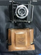 RARE VINTAGE MINOLTA Crown FOLDING CAMERA W/ CASE 75mm  PATENT NIPPON CROWN WWII