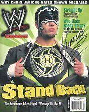 Eb1114 The Hurricane signed Wwf Wrestling Magazine w/ Coa *Bonus*