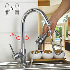 WELS Chrome Finish Brass Faucet Basin & Kitchen Sink Pull Out Spray Mixer Tap