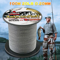 8 Strands Japan Mixed Black&White Strong PE 8 Braided Multifilament Fishing Line