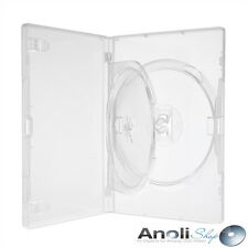 Amaray Hülle Transparent für 1,2 Disc mit Tray DVD,CD,Bluray Neuware 9 Hüllen
