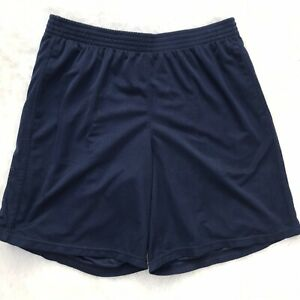 Mens Champion Size XL Extra Large Navy Blue Mesh Athletic Shorts Basketball Gym