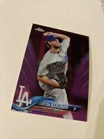 2018 topps Chrome clayton kershaw Pink Refractor Dodgers