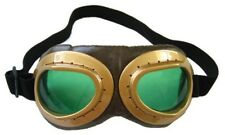 Aviator Goggles Green Steampunk Burning Man Industrial Costume Adult Mens Womens