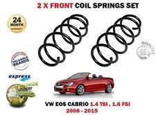 FÜR VW VOLKSWAGEN EOS 1.4 TSI 1.6 FSI 2006-2015 Neue 2x VORDERE SPIRALFEDERN SET