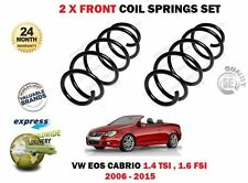 FOR VW VOLKSWAGEN EOS 1.4 TSI 1.6 FSI 2006-2015 NEW 2 x FRONT COIL SPRING SET