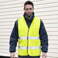 Result Hi High Viz Visability YELLOW Motorist Safety Vest Waistcoat