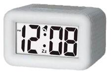 "Timelink Digital 1.2"" Lcd Quartz Rubber Case Alarm Clock (White) 88180"