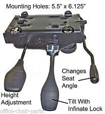 Heavy duty swivel Office Chair Mechanism W Infinite Lock. Made In Canada #T-3001
