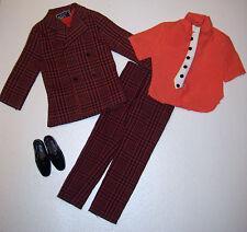 Vintage Ken Doll The V.I.P. VIP Scene Outfit #1473 Mod Era 1970's Tie Variation