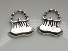 50 Tibet Silver Purse Handbag Bag Charm Pendants 15mm Jewelry Making