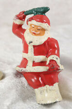 Santa Father Christmas 3 inches tall  cake decoration heavy ornament