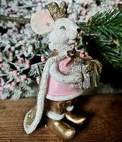 Nußknacker Nutcracker Mausekönig Mäusekönig Figur Dekofigur Gold Maus Mäuse