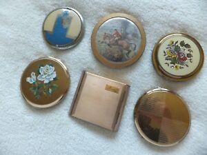 Vintage Assorted Cosmetic Powder Compacts Job Lot
