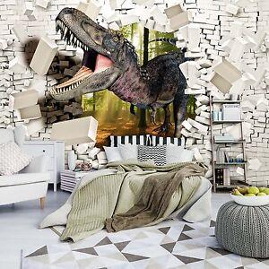 VLIES Fototapeten Tapete Fototapeten Wand Ziegel Dinosaurier Dino 3FX11462VE