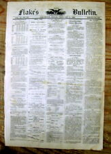 1868 Galveston TEXAS newspaper w MYTH of African-American BEING HAPPY as A SLAVE