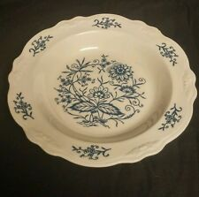 Homer Laughlin Dresden Heritage Imperial Blue Blue Onion Style Berry Bowl