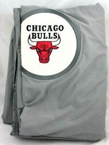 POTTERY BARN Teen NBA Chicago Bulls Patch Duvet Cover F/Q Bedding Grey