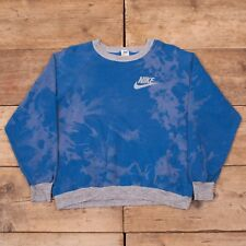 Womens Vintage Nike White Label 1970s Blue Sweatshirt Jumper Large 14 XR 9124