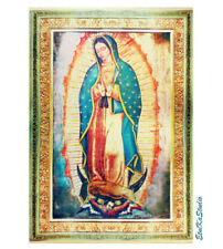 extra large VIRGIN Of Guadalupe satin fabric rectangle print banner