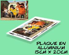 plaque murale ou porte aluminium (15x20cm) LES MYSTÉRIEUSES CITES D'OR