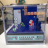 Super Mario Bros 3 3D Cube Handmade Diorama - Shadowbox - Nintendo NES - Fanart
