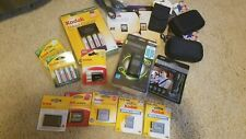Kodak Digital Camera Accessory Lot - Cases, Batteries, Sd Memory Cards, Chargers