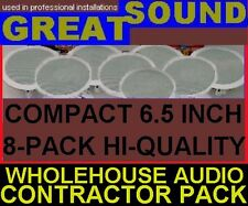 (8-PACK)  SMALL HQ CEILING SPEAKERS - CONTRACTOR BULK  PRO-SPKRS (8X)