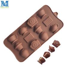 12 Holes Teapot Alarm Clock Chocolate Mold DIY Silicone Cake Molds Baking Tools