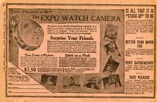1927 small Print Ad of The Expo Pocket Watch Camera