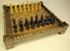 "Zeus & Hera GREEK ROMAN MYTHOLOGY GODS Chess Set W/ Castle Fortress Board 17"""