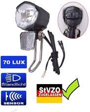 LED-Scheinwerfer Sensor 70 LUX Dynamo Nabendynamo Beleuchtung Fahrrad Licht  Fil