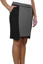 Ladies Fully Lined Above Knee Length Office Tulip Mini Skirt Black Grey Size 10