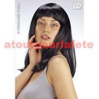 Perruque à Frange,raide,Samantha,Cher,Longue,Femme,Disco,Glamour,Déguisement