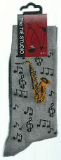 latón oro Saxophone grupo musical Calcetines Tobillo Adulto Unisex Talla 6-11
