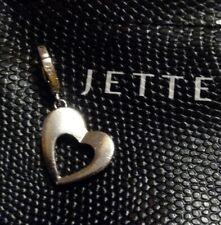 Jette 925 Silber Herz-Charm-Anhänger für Armband Kette Satellite TOP ZUSTAND
