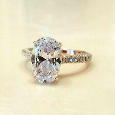 Engagement Rings 14K Yellow Gold 2.66Ct Oval Forever Brilliant Moissanite Rings